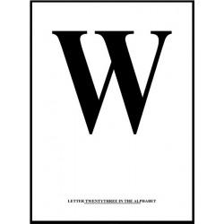 Alfabet W Poster