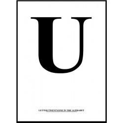 Alfabet U Poster