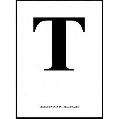 Alfabet T Poster