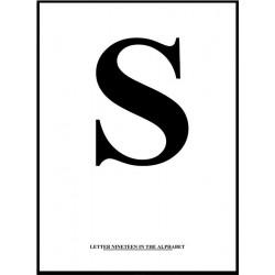 Alfabet S Poster
