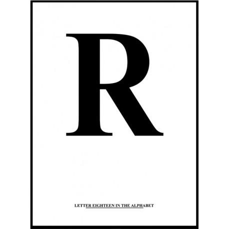 Alfabet R Poster