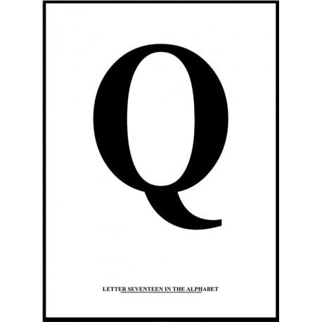 Alfabet Q Poster