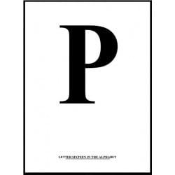 Alfabet P Poster