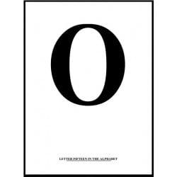 Alfabet O Poster