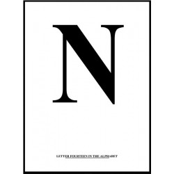 Alfabet N Poster