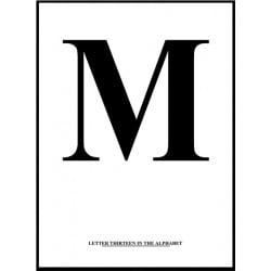 Alfabet M Poster
