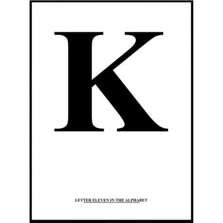 Alfabet K Poster