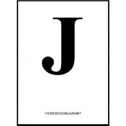 Alfabet J Poster