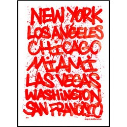 US Cities Poster
