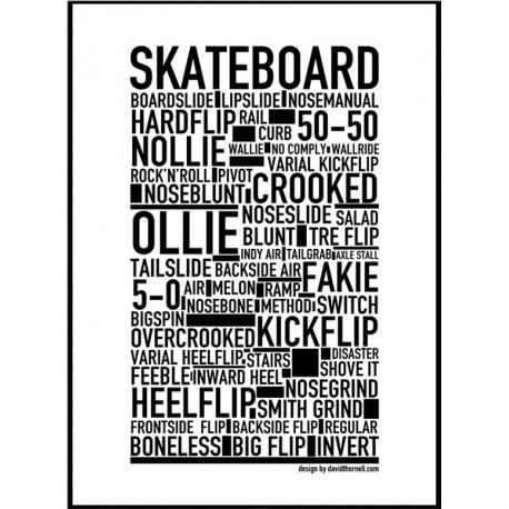 Skateboard Poster