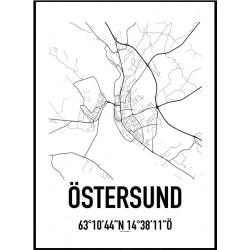 Östersund Karta