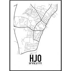 Hjo Karta Poster