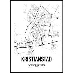 Kristianstad Karta