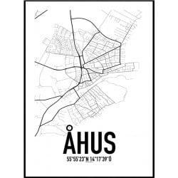 Åhus Karta Poster