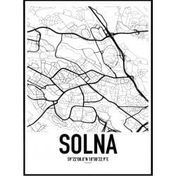 Solna Karta Poster