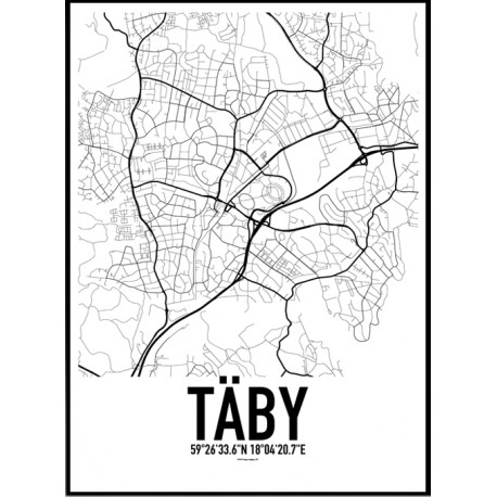 Täby Karta Poster