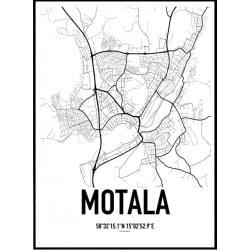 Motala Karta Poster