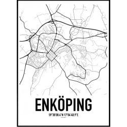 Enköping Karta Poster