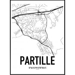 Partille Karta Poster