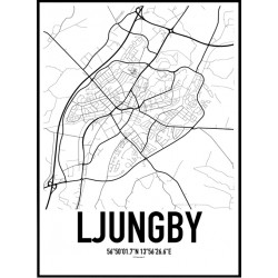 Ljungby Karta Poster