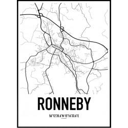 Ronneby Karta Poster