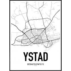 Ystad Karta Poster