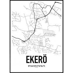 Ekerö Karta Poster