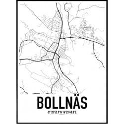 Bollnäs Karta Poster