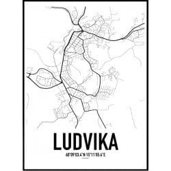 Ludvika Karta Poster