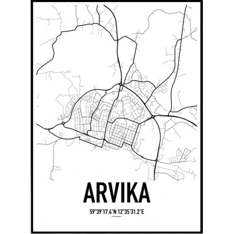 Arvika Karta Poster