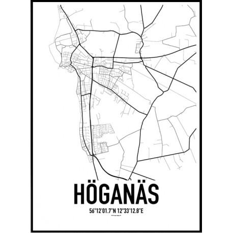 Höganäs Karta Poster