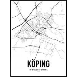 Köping Karta Poster