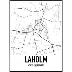 Laholm Karta Poster