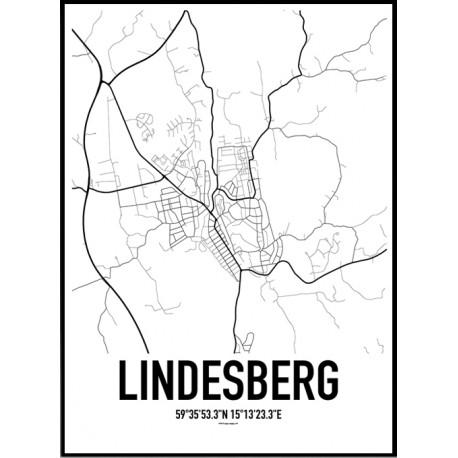 Lindesberg Karta