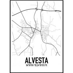 Alvesta Karta Poster