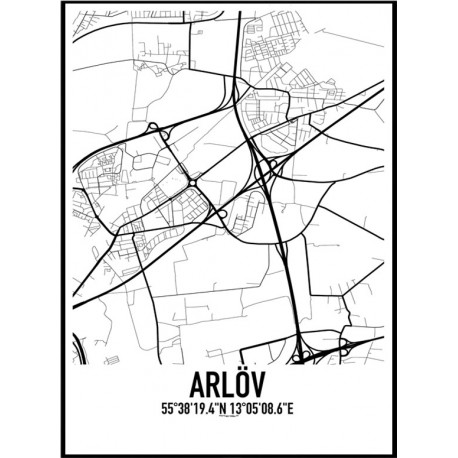 Arlöv Karta Poster