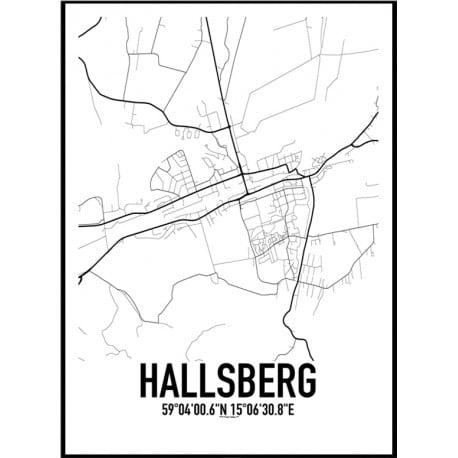 Hallsberg Karta Poster