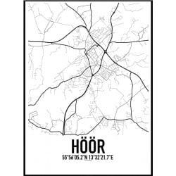 Höör Karta Poster