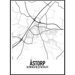 Åstorp Karta Poster