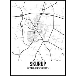 Skurup Karta Poster