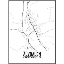 Älvdalen Karta Poster