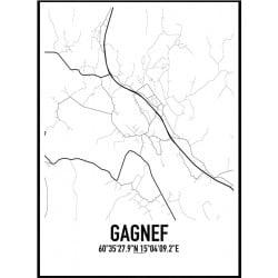 Gagnef Karta Poster