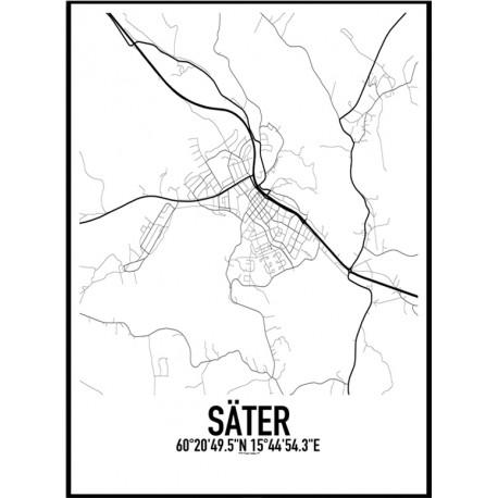 Säter Karta Poster