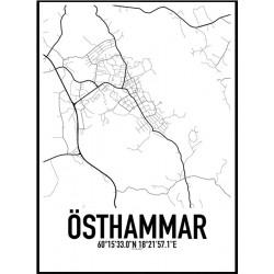 Östhammar Karta Poster