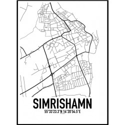 Simrishamn Karta Poster