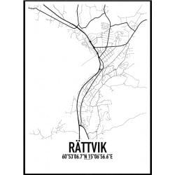 Rättvik Karta Poster