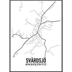 Svärdsjö Karta Poster