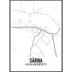 Särna Karta Poster