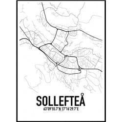 Sollefteå Karta Poster
