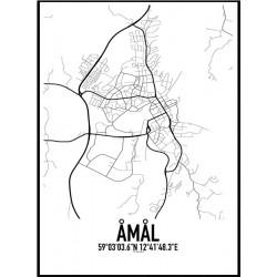 Åmål Karta Poster
